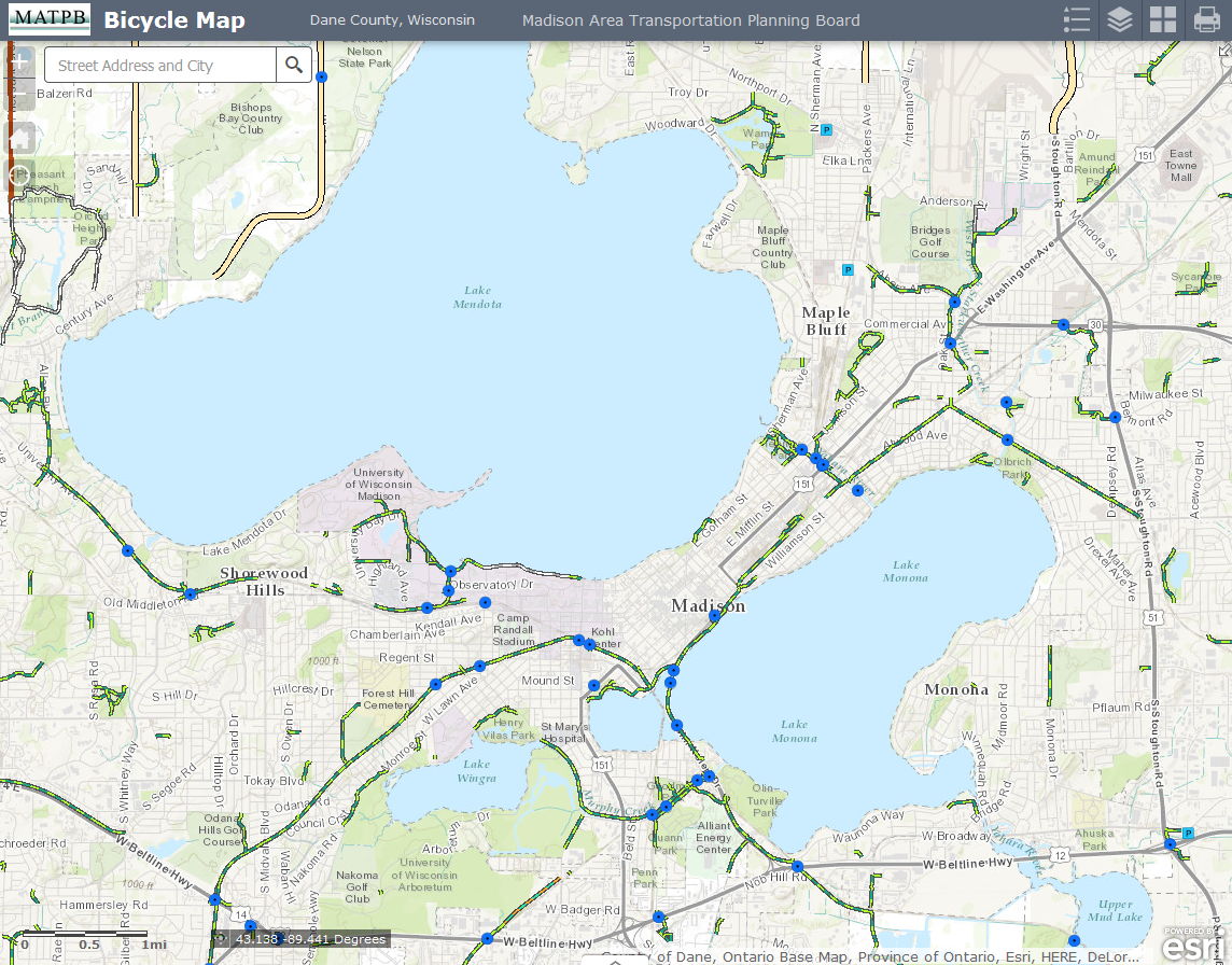 Dane County Bicycle Map | Madison Area Regional Transportation Plan on